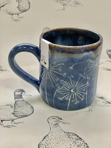 Denim blue dandelion small mug