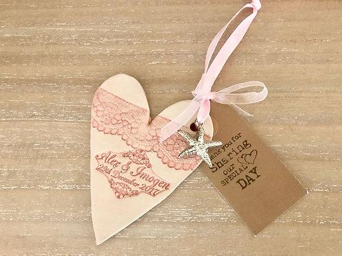"""""""Wedding Favours"""" Heart Plea"""