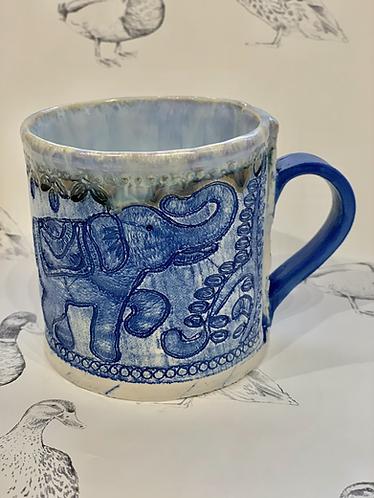 Indian elephant braid mug