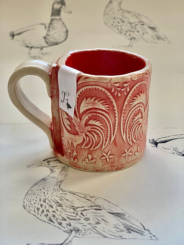 Tiny espresso mug red