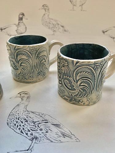 2 tiny espresso mugs (sold as pair)