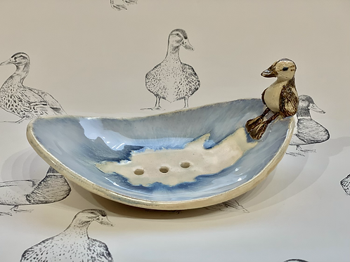 Duckling soap dish