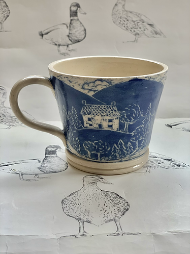 House on the hill small tea cup