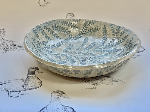 Embroidered dish