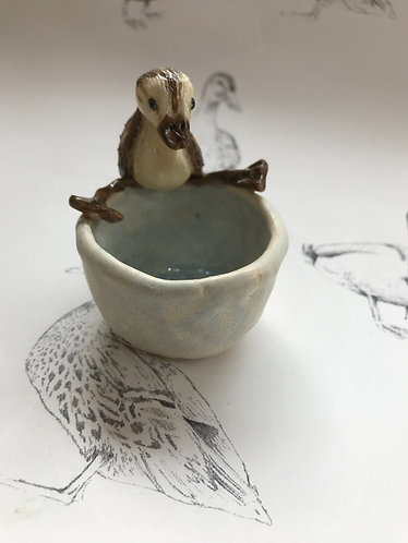 Tiny duckling pinch pot