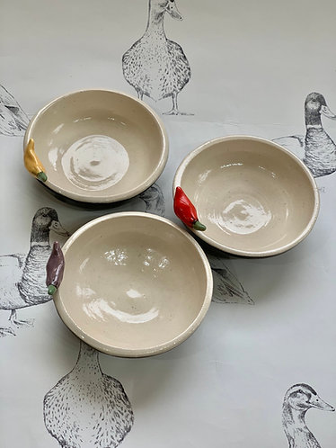 Set of 3 chilli sauce bowls