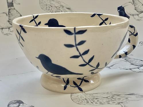 Bird and branch tea mug