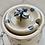 Thumbnail: Spotty blue honey pot
