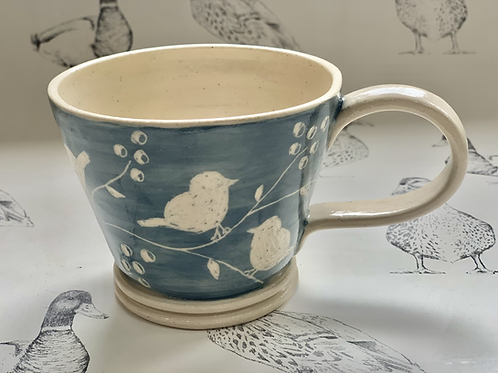 Bird and leaf trail small tea cup