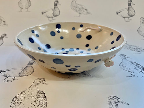 Blue spotty mousie bowl