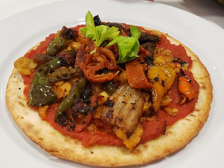 Chickpea Sausage Pizza