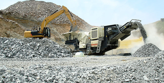 aggregate production by mobile crusher.j