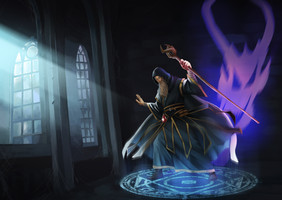 The evil wizard in The Dark Tower in online team building game