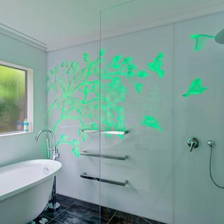illuminated panel - bathroom