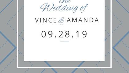 Amanda & Vince's Wedding 09/28/19