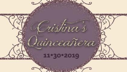 Cristina's Quinceañera 11-30-19