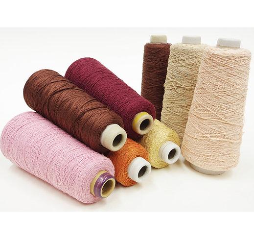 5.コーン巻き絹紡糸 暖色系