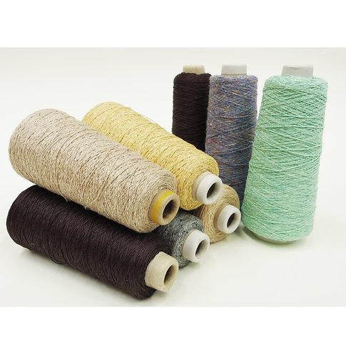 6.コーン巻き絹紡糸ナチュラル 系