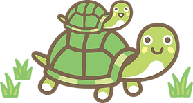 baby and mom turtle.png