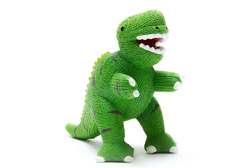 T REX NATURAL RUBBER DINOSAUR BATH TOY AND TEETHER