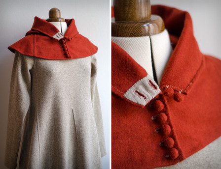Red buttoned hood, late 14th century