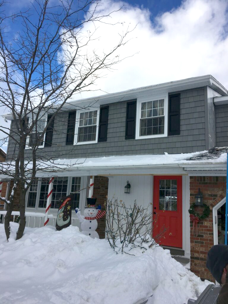 Replacement windows and siding during winter