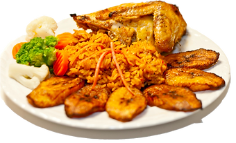 Jollof Rice with Chicken and Plantains
