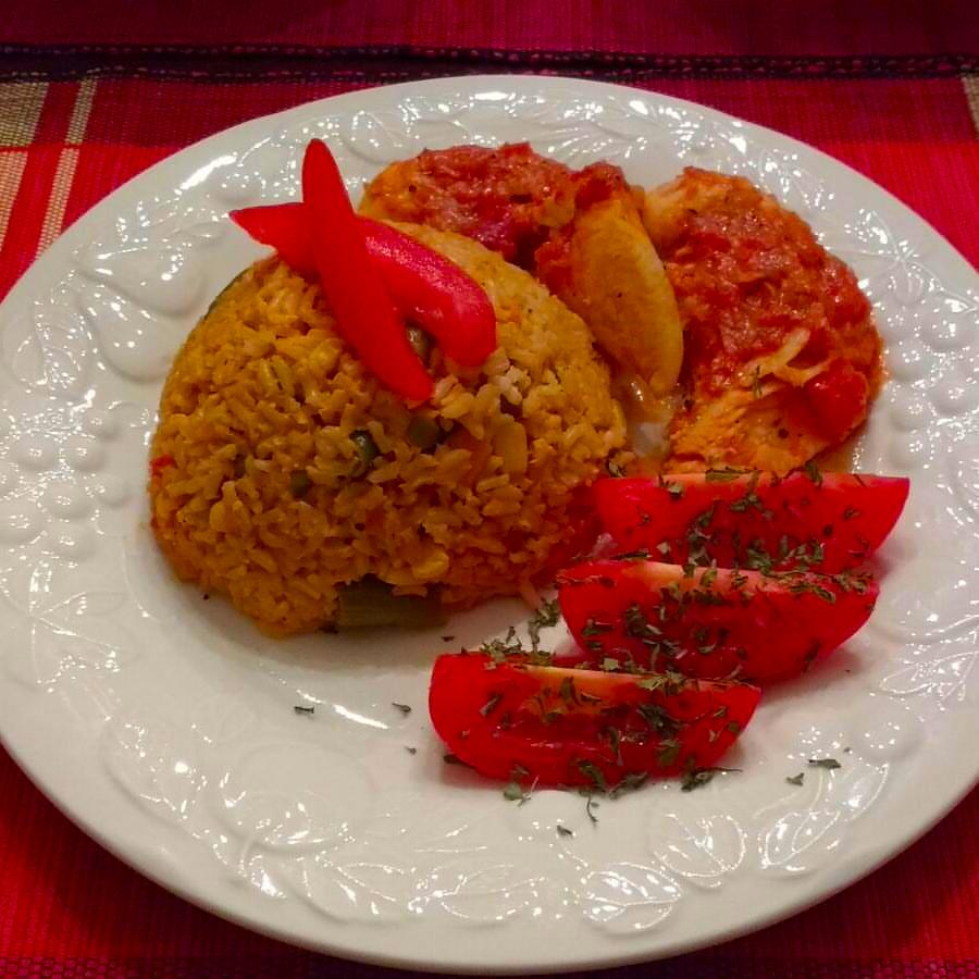 Jollof Coconut Brown Rice - Made with Blessing's Foods Jollof Rice Seasoning Mix!