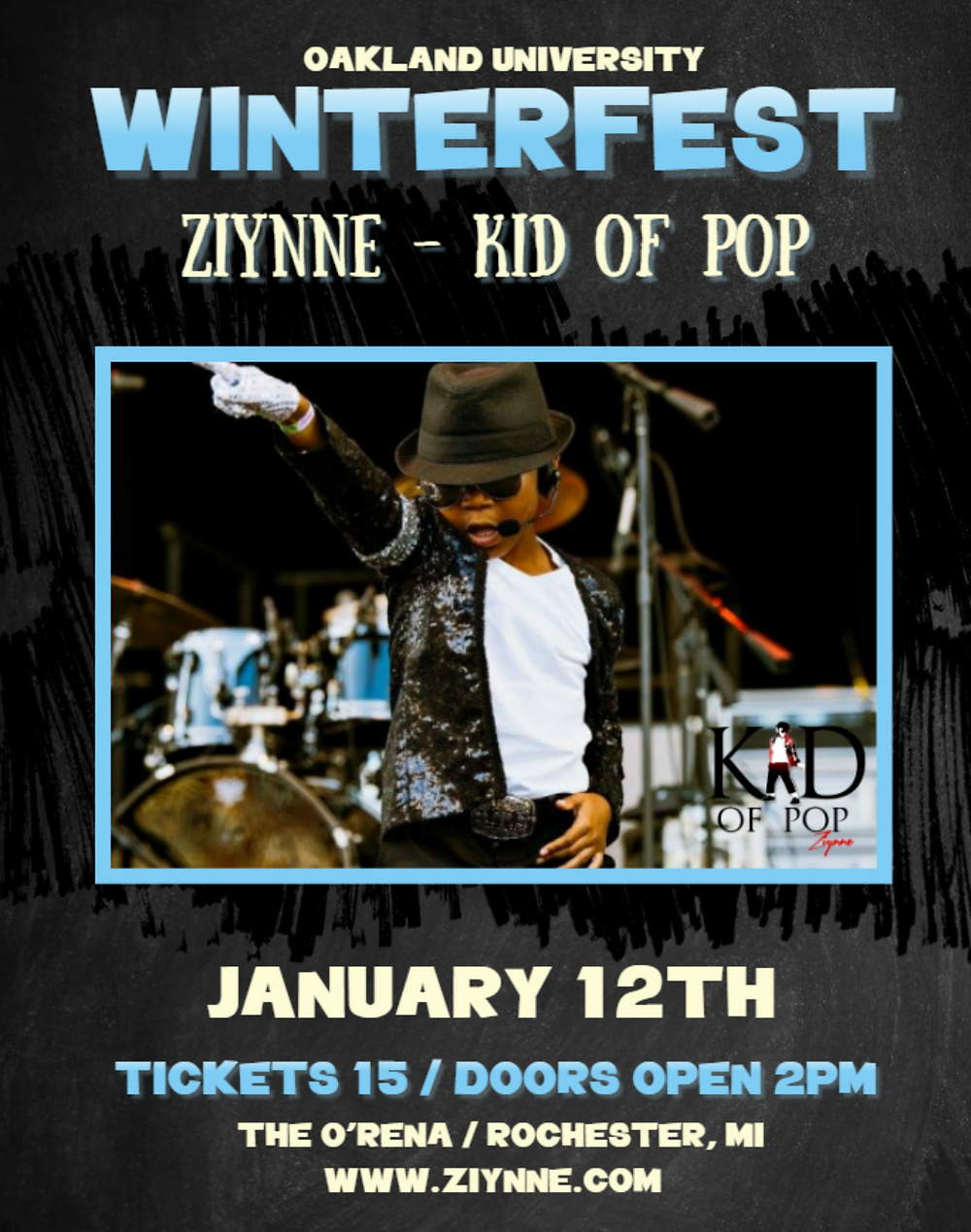Ziynne - Kid of Pop will perform at Winterfest