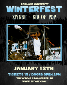 Ziynne - Kid of Pop will perform at Winterfest