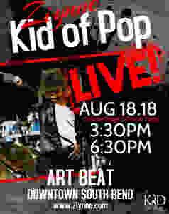 Ziynne - Kid of Pop Performing at the 2018 Art Beat in South Bend, IN.  #DTSBArtBeat  #KidofPop