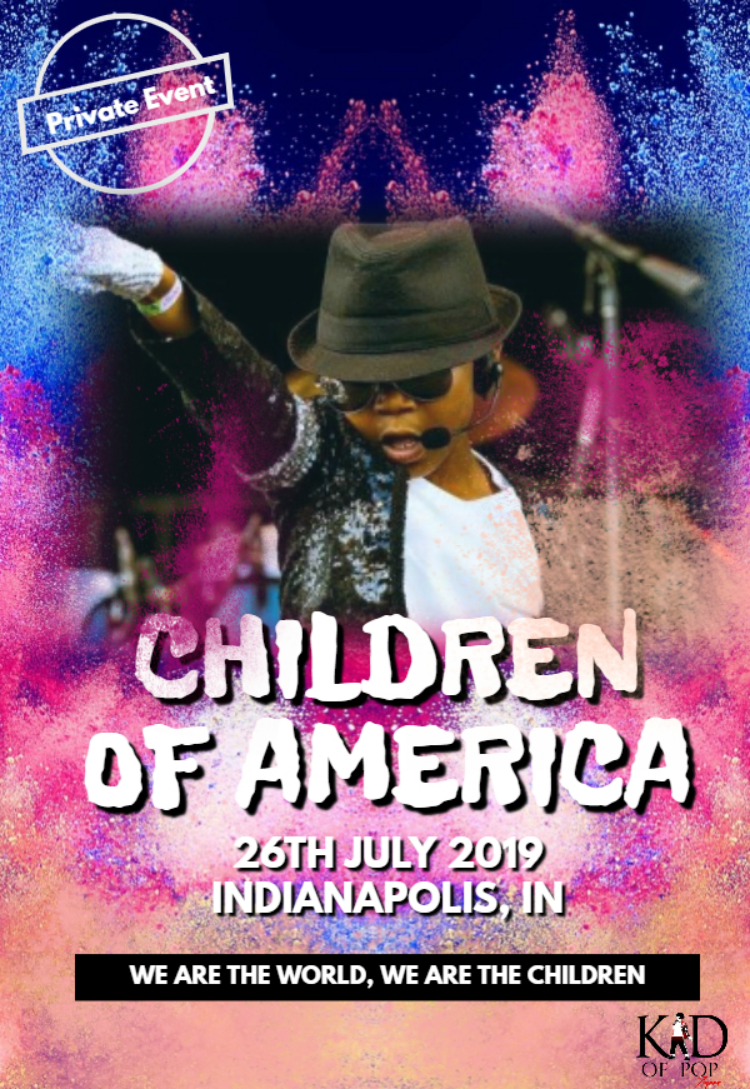 The Kid of Pop will perform at the 2019 Children of America event.