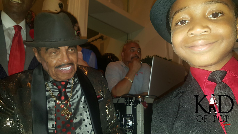 Ziynne - Kid of Pop with the iconic Joseph Jackson at his 89th birthday celebration!