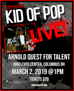 Ziynne - Kid of Pop will be performing at the Arnold Quest for Talent