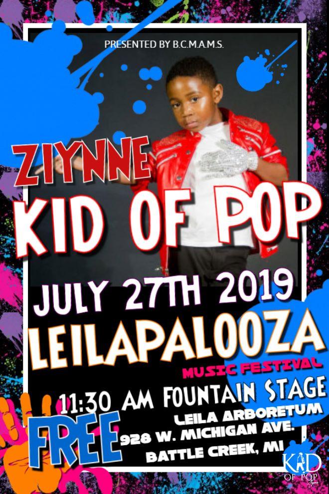 Ziynne - Kid of Pop Set to Rock the Leilapalooza Music Festival!