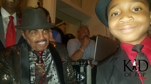 Ziynne - Kid of Pop with Joseph Jackson at his 89th birthday party