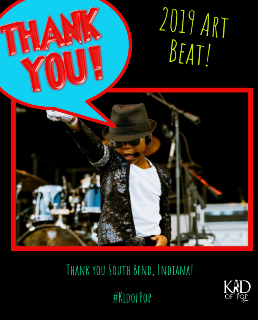 The Kid of Pop rocked the 2019 Art Beat in South Bend, Indiana!