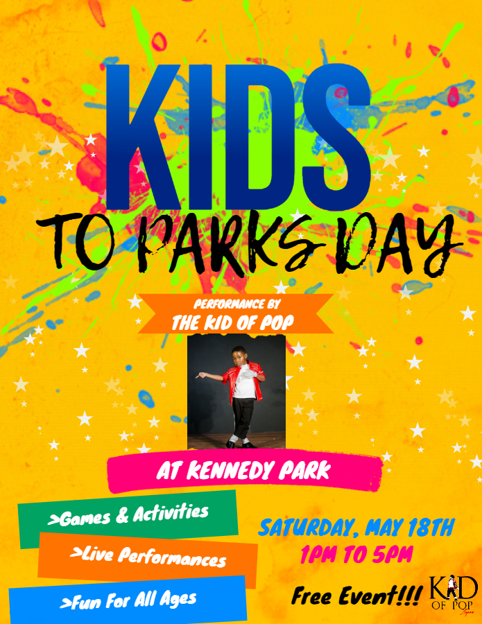 The Kid of Pop to headline National Kids to Parks Day in South Bend, IN