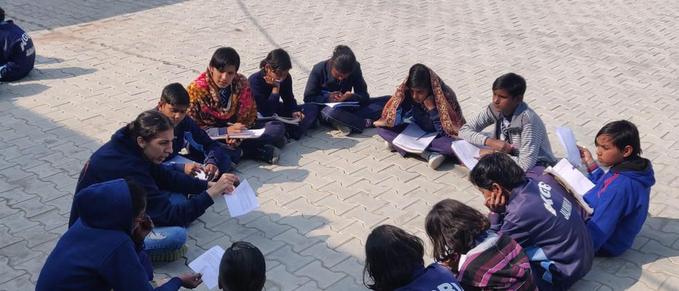 Girls of KGBV Jalmana participating in Janmanch - Vaibhav Kumar-min.jpg