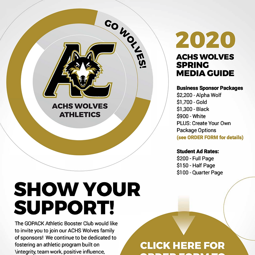 Athletics Media Guide Ad and Banner Sponsorship Drive