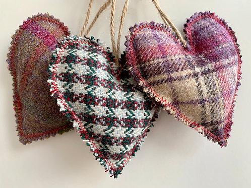Tartan Hanging Heart