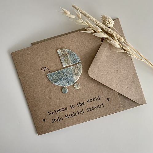 New Baby Textile Card
