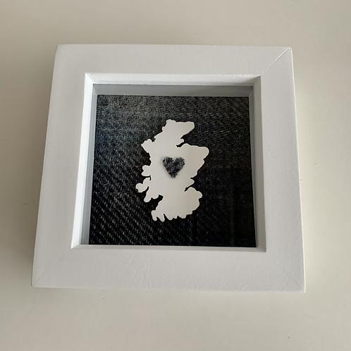 Love Scotland Tartan Textile   10cm White