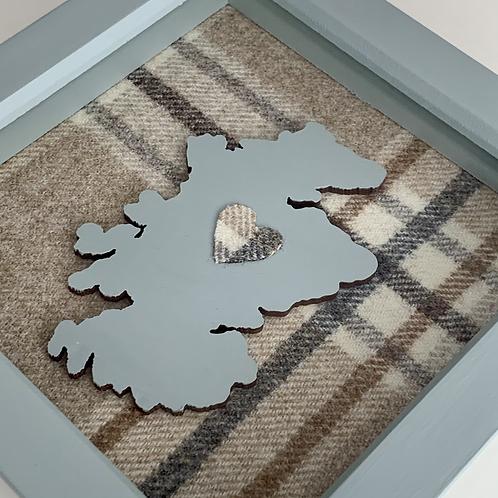 Love Scotland Tartan Textile   15cm Green