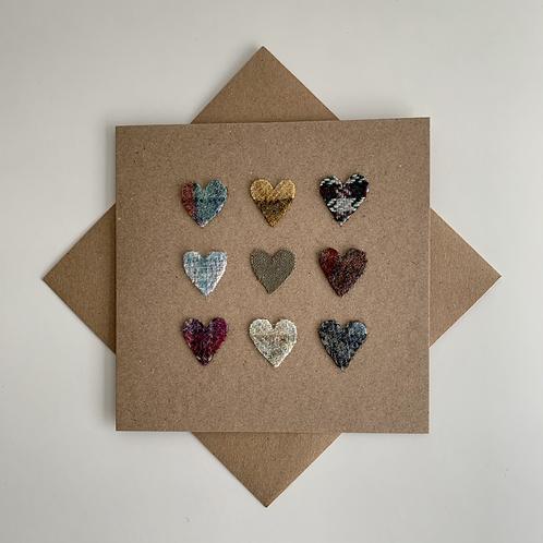 Tartan Heart Textile Card