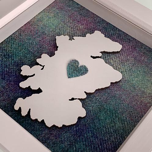 Love Scotland Tartan Textile | 15cm Pink