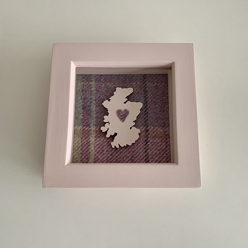 Love Scotland Tartan Textile | 10cm Pink