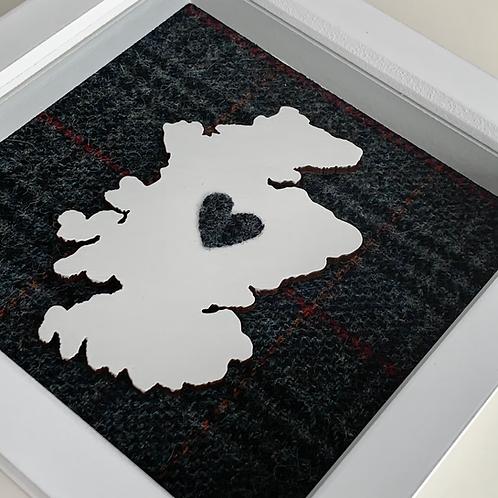 Love Scotland Tartan Textile | 15cm White