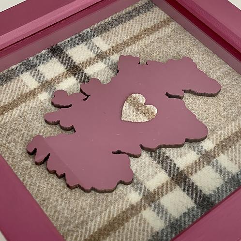 Love Scotland Tartan Textile | 15cm Berry
