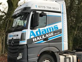 Adams Haulage Vehicle Graphics